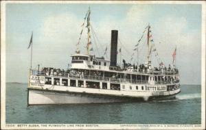Massachusetts Steamship Steamer Betty Alden Detroit Publishing Postcard