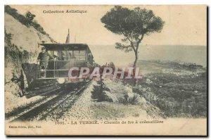Old Postcard La Turbie Railway cogwheel