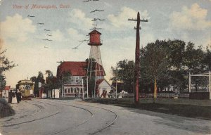 Momauguin Connecticut Street Scene Water Tower Vintage Postcard JJ658792