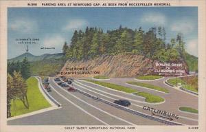 North Carolina Great Smoky Mountains National Park Parking Area At Newfound G...