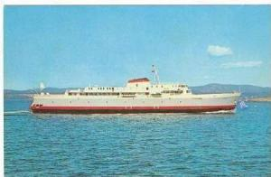 MV Coho Car And Passenger Ferry On The Water, 1967
