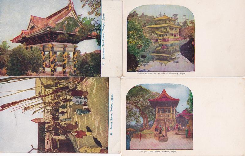 0232 Grabbag Auction 4 Japan Postcards Starting At .99