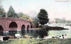 Sonning Bridges Berkshire Antique Beauty Spots Of England Advertising Postcard