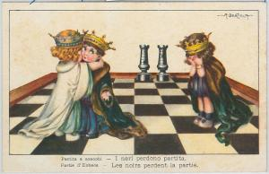 59737 - VINTAGE POSTCARD - Glamour Ladies CHILDREN - BERTIGLIA: Chess