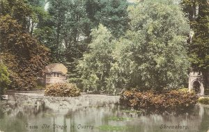 The Dingle in Quarry, Shrewsbury Nice vintage English postcard