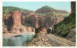 C-1908 Railroad Grand Canyon COLORADO Detroit Publishing postcard 209