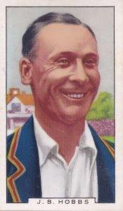 Jack Hobbs Surrey English International Cricket 1930s Cigarette Card