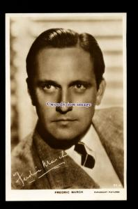 b6480 - Film Actor - Fredric March, No.50.A - Paramount Pictures - postcard