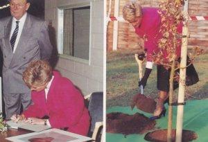 Princess Diana South Gresley Derby Signing Autograph Rare PostcardBook