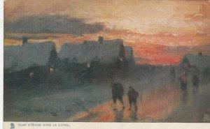 Soir D'Hiver Dans La Lande , France , 1900-10s ; TUCK