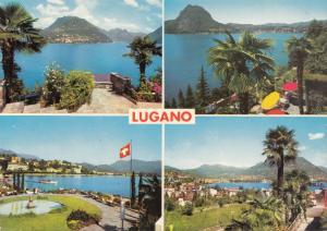 Switzerland, Suisse, LUGANO, multi view, unused Postcard