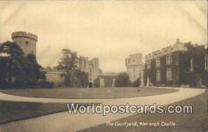 United Kingdom, UK, England, Great Britain The COUrtyard Warwick Castle Warwi...