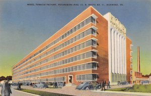 Tobacco Post Card Model Tobacco Factory Richmond, Virginia, USA Writing on back
