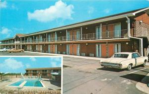 McDonough Georgia~Patrick Economy Inn~1960s 2-door Sedan Postcard