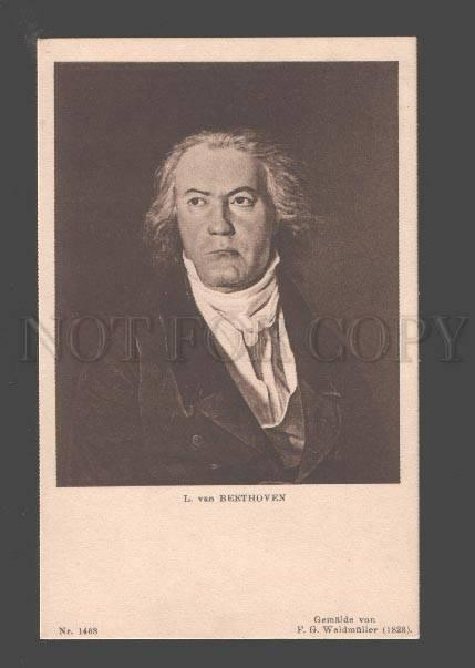 088059 BEETHOVEN Great German COMPOSER by WALDMULLER old RARE