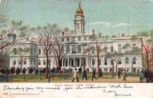City Hall, Manhattan, New York City, N.Y., Early Postcard, Used in 1907