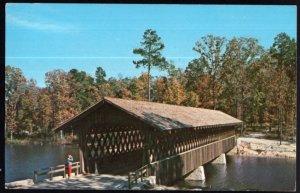 Georgia STONE MOUNTAIN Covered Bridge in Stone Mountain Memorial Park pm1976 - C