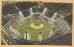 BOSTON, Massachusetts, 30-40s; Braves Field Stadium - Home of the Boston Braves