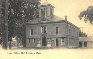 Lexington MA Masonic Hall Real Photo Postcard