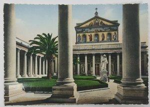 Basilica St Paul Rome Italy Europe Vintage Postcard