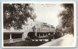 Postcard FL Daytona The Ridgewood Hotel Inn RPPC Real Photo c1920s L18