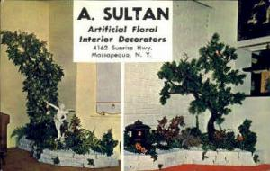 A. Sultan Artificial Floral Decorators Massapequa NY Unused