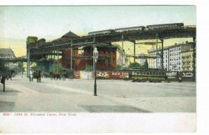 NEW YORK 110TH ST ELEVATED CURVE 1900'S PUBLISHER POSTCARD CO NEW YORK