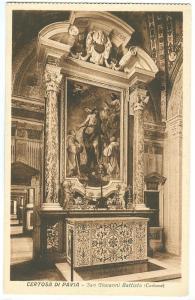 Italy, Certosa di Pavia, San Giovanni Battista, unused Postcard