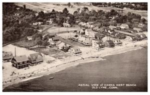 Connecticut  Old Lyme ,  Aerial View of Hawk's Nest Beach