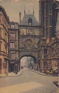 Rouen La Grosse Horloge l'Arcade et la Fontaine