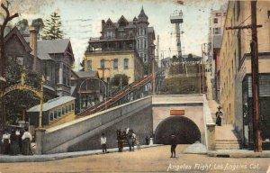 ANGELES FLIGHT Angel's Flight LOS ANGELES, CA 1908 Vintage Postcard