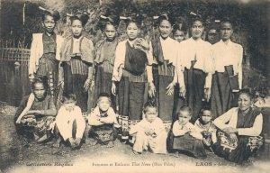 Vietnam Laos Femmes et Enfants Thai Neua Hua Pahn Indochine 03.76