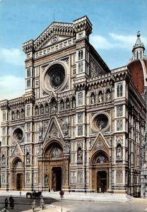 Italy Firenze Front view of the Cathedral, Fassade des Doms