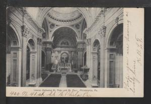 Interior,St Peter Cathedral,Philadelphia,PA Postcard