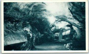 Alabaster Caverns State Park, Oklahoma Postcard Interior View c1950s Unused