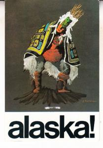 Chilkat Dancer Of Alaska Alaskan Indian Fashion Dancing Postcard