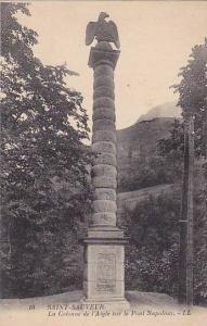 La Colonne De l'Aigle Sur Le Pont Napoleon, Saint-Sauveur, France, 1900-1910s