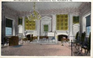 Declaration Chamber, Independence Hall Philadelphia PA Unused