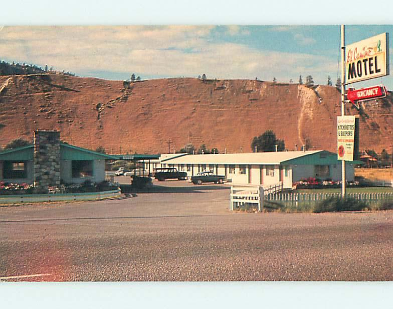 Unused Pre-1980 EL CAMINO MOTEL IN KAMLOOPS British Columbia CANADA u0447-12