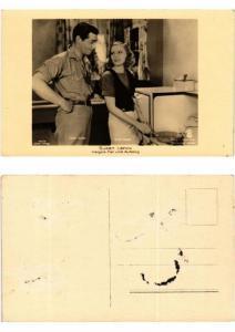 CPA Greta Garbo -Clark Gable FILM STAR (554383)