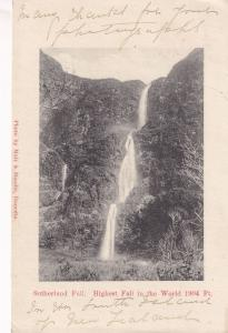 Sutherland Falls 1904 Foot Jump Scary Fall New Zealand Earliest Postcard