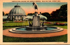 Michigan Detroit Belle Isle Park Horticultural Building and Barbour Memorial ...
