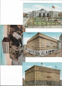 USA California San Francisco Postcard lot of 8 01.13