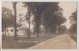 RPPC, Baptist Church & Lyons Den, Paris Hill, ME