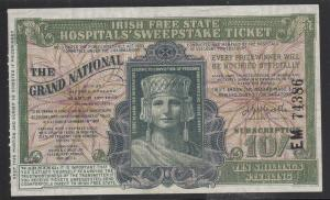 1937 Irish Sweepstakes Ticket - 1937 - 10 Shillings