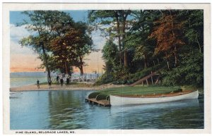 Belgrade Lakes, Me, Pine Island