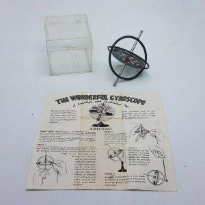 Vintage Chandler The Wonderful Gyroscope w Box & Instruction Sheet