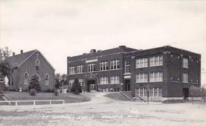 Wisconsin Arcadia St Aloysius School Real Photo RPPC
