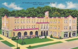 Air Conditioned Hotel Seville And Coffee Shop Harrison Arkansas 1960