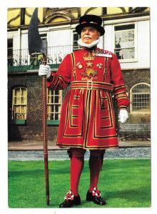 UK England Tower of London Yeoman Warder Vntg John Hinde Postcard 4X6